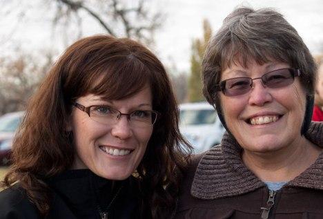 Chris Alt and her mom
