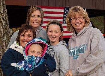 Gina, Ashley, Heidi, Torie and friend